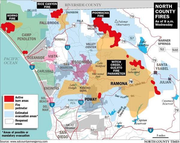 Fire Map 10-24-07