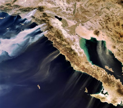 October 2007 Fires from Space