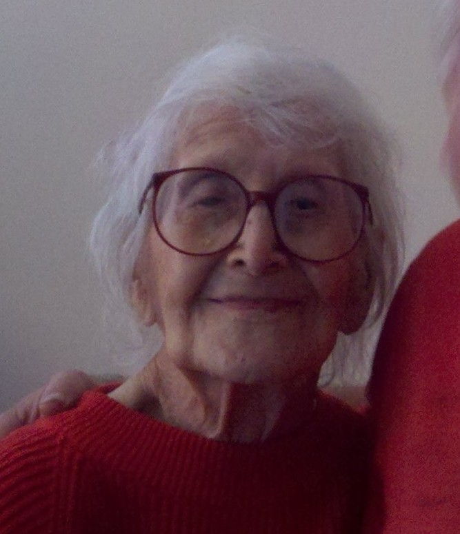 My grandmother on her 105th birthday -- she never forgot whose life she was living.
