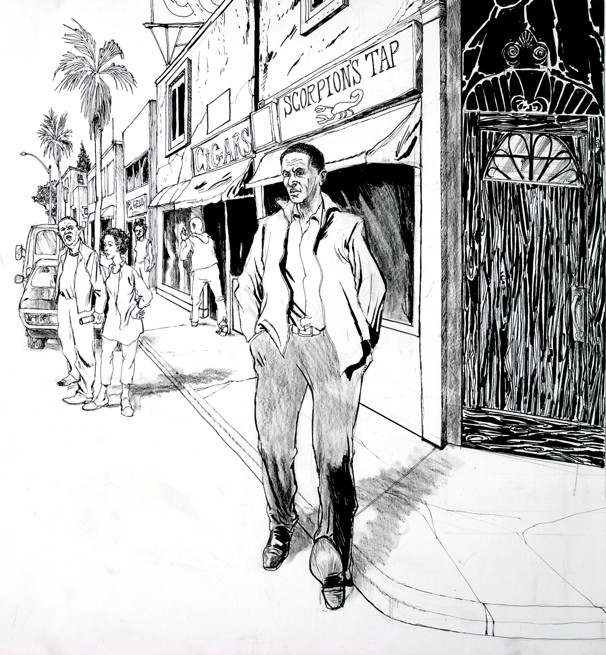 Hank street scene